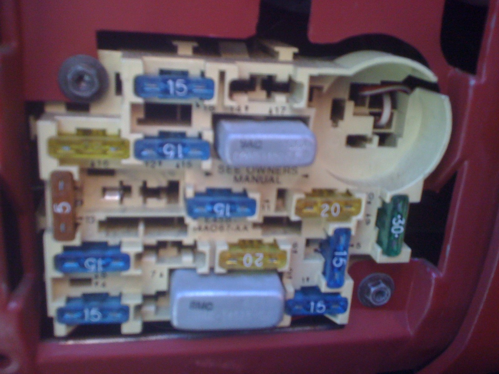 Pic Needed Of 1989 Mustang 2 3 Fuse Box