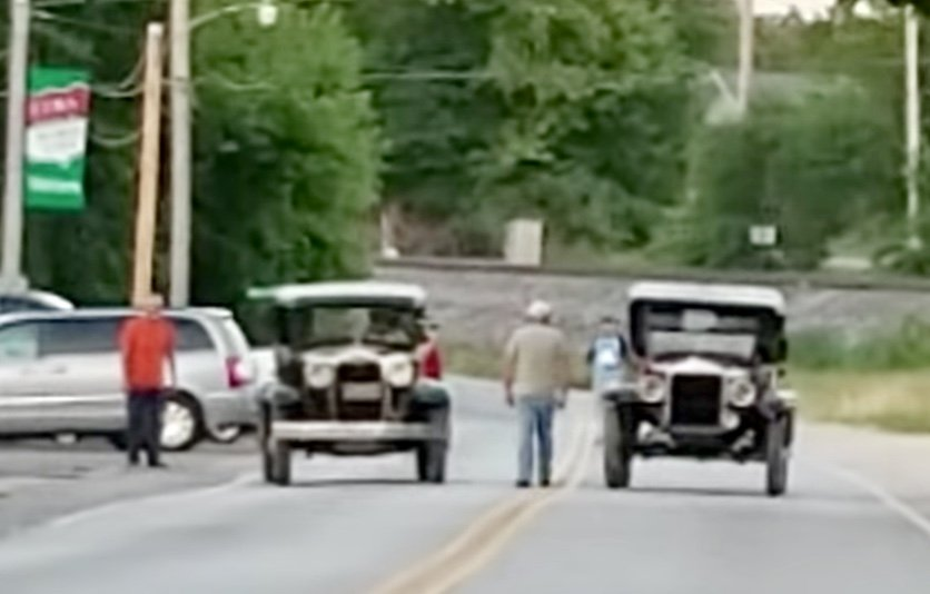 Watch: The Model A vs Model T Drag Race We All Richly Deserve