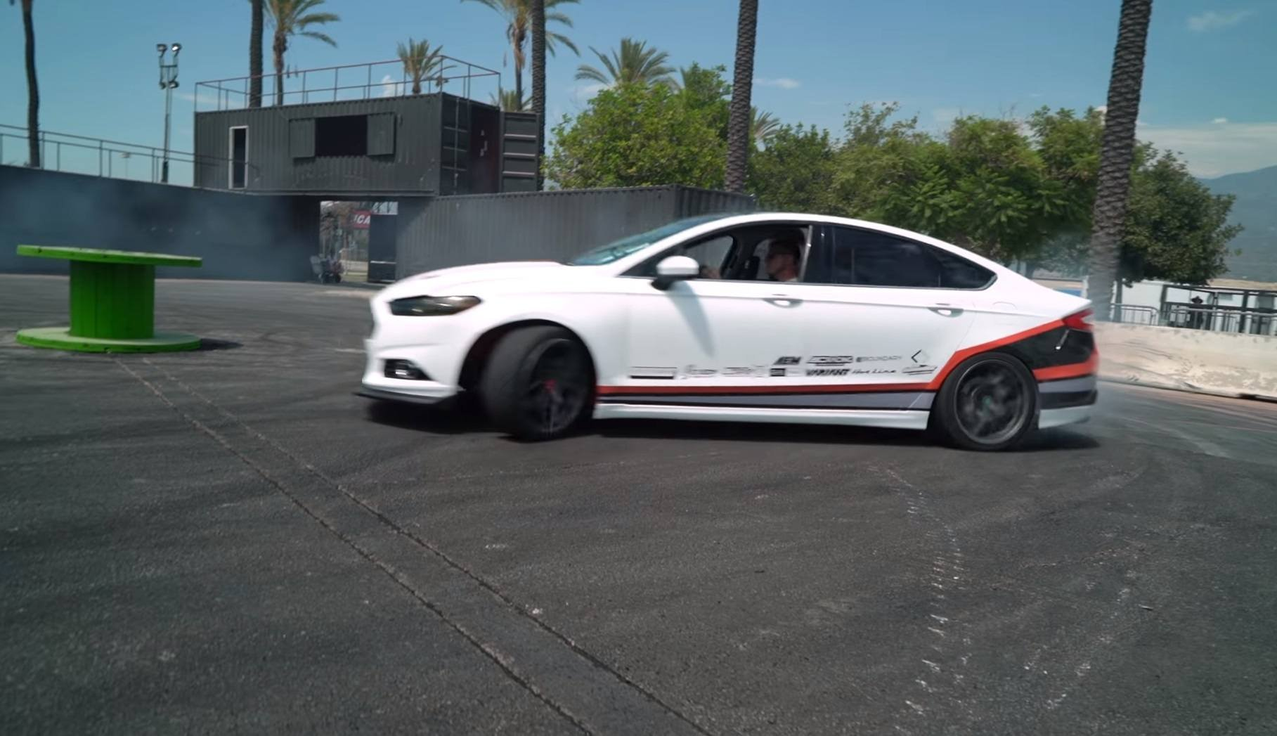 Watch: 450 HP Mustang-Powered Fusion Goodness