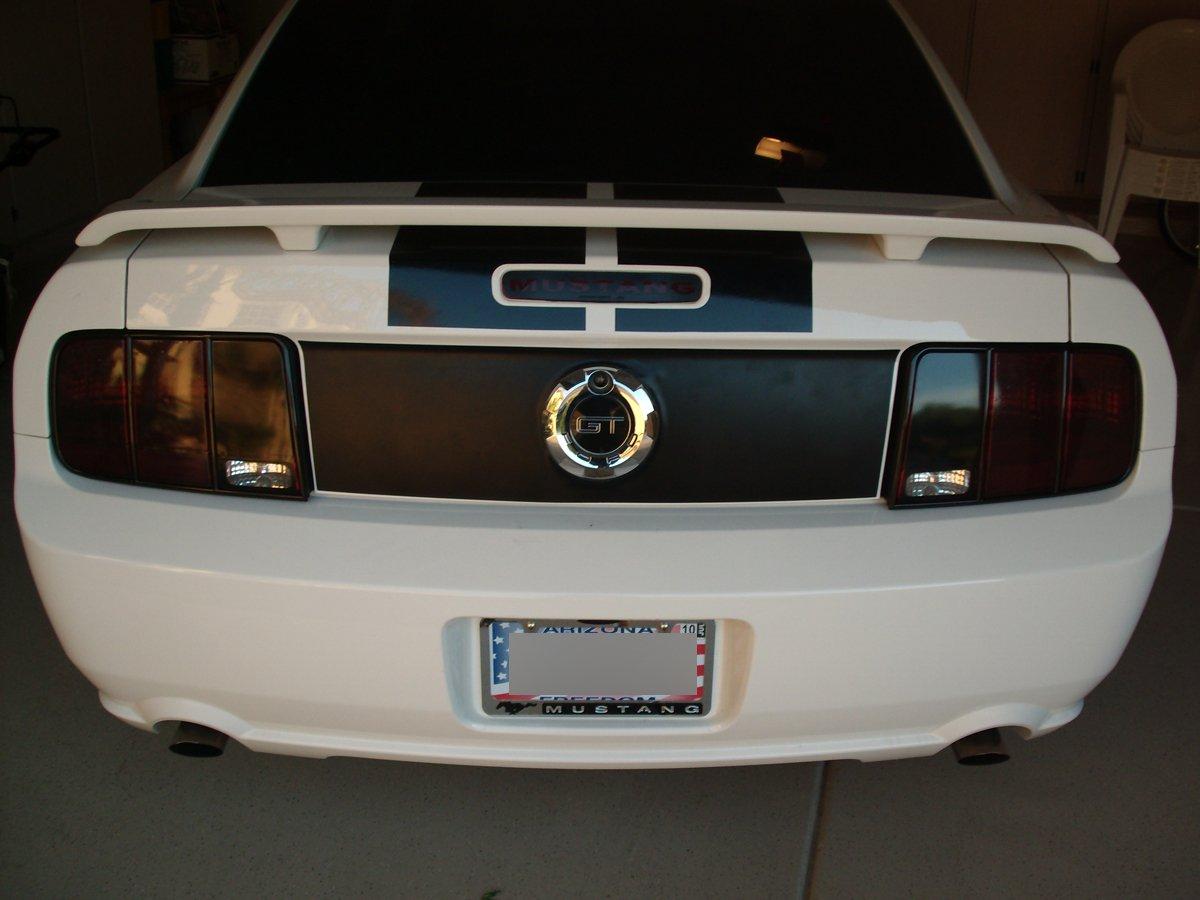 white welting billet door lock pins mustang license plate frame gedc0562 - Mustang License Plate Frame