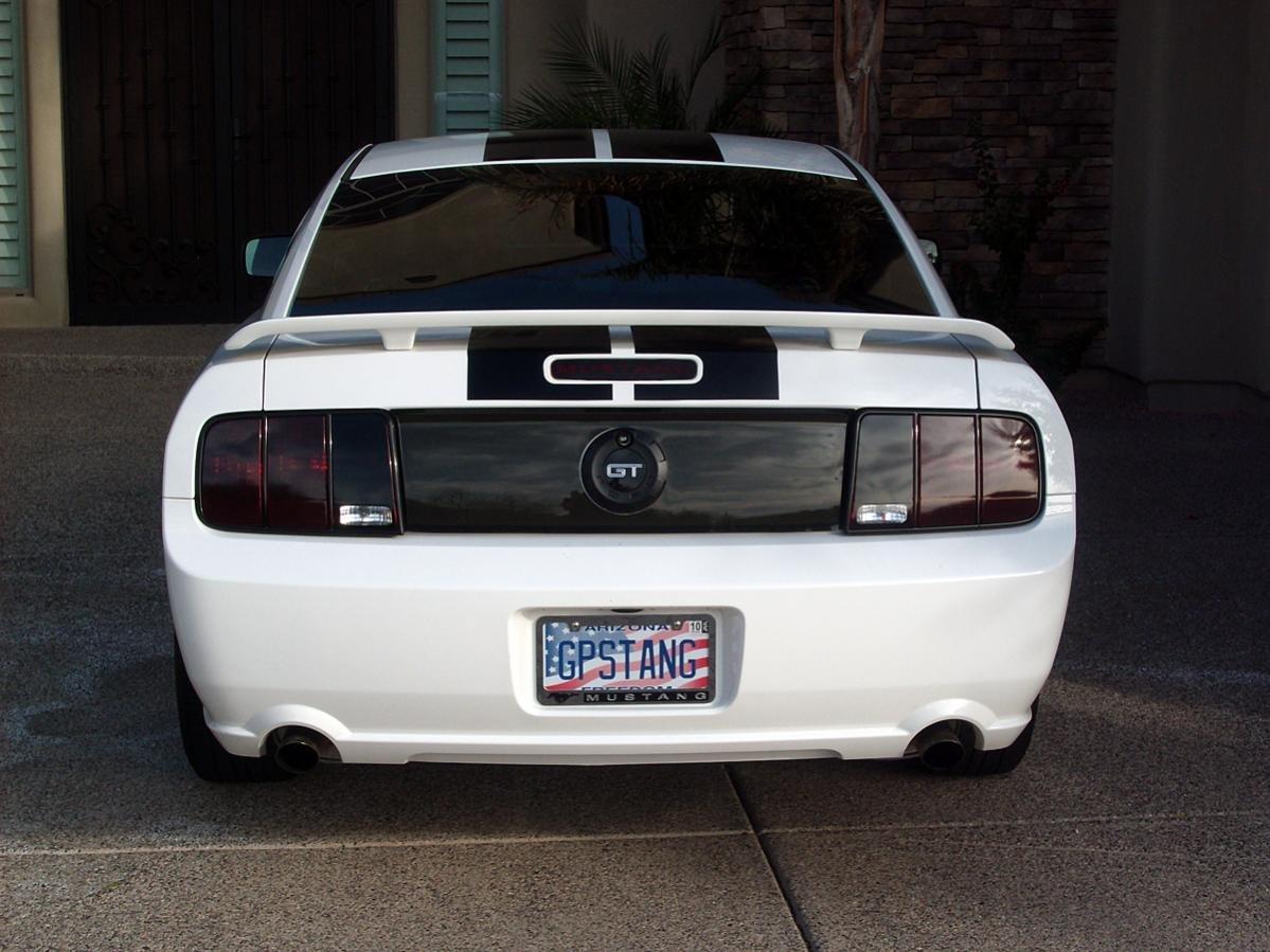 Black Gt Rear Decklid Emblem And Glossy Blackout Panel