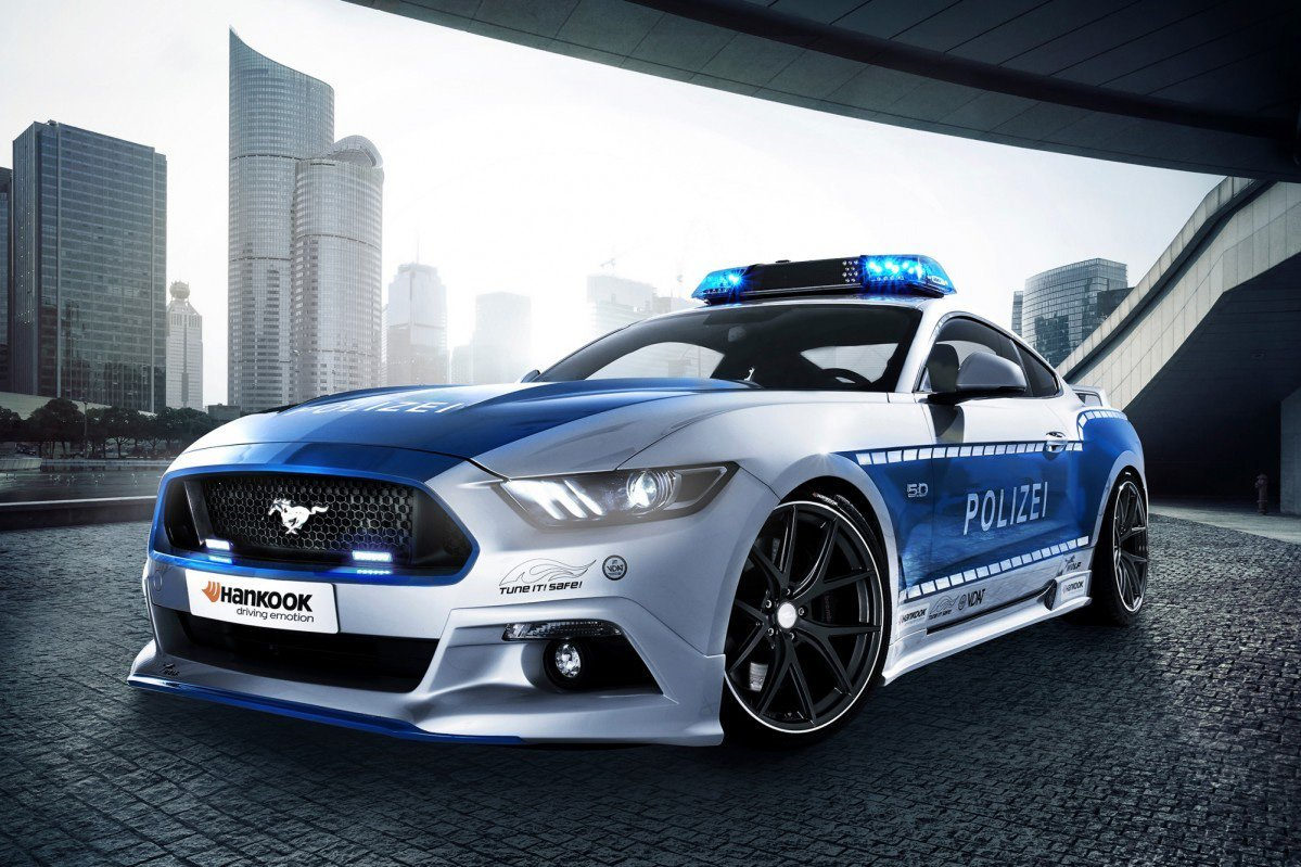 F 150 Shelby >> Ford Mustang Dresses Up Like the Fuzz in Germany - AllFordMustangs