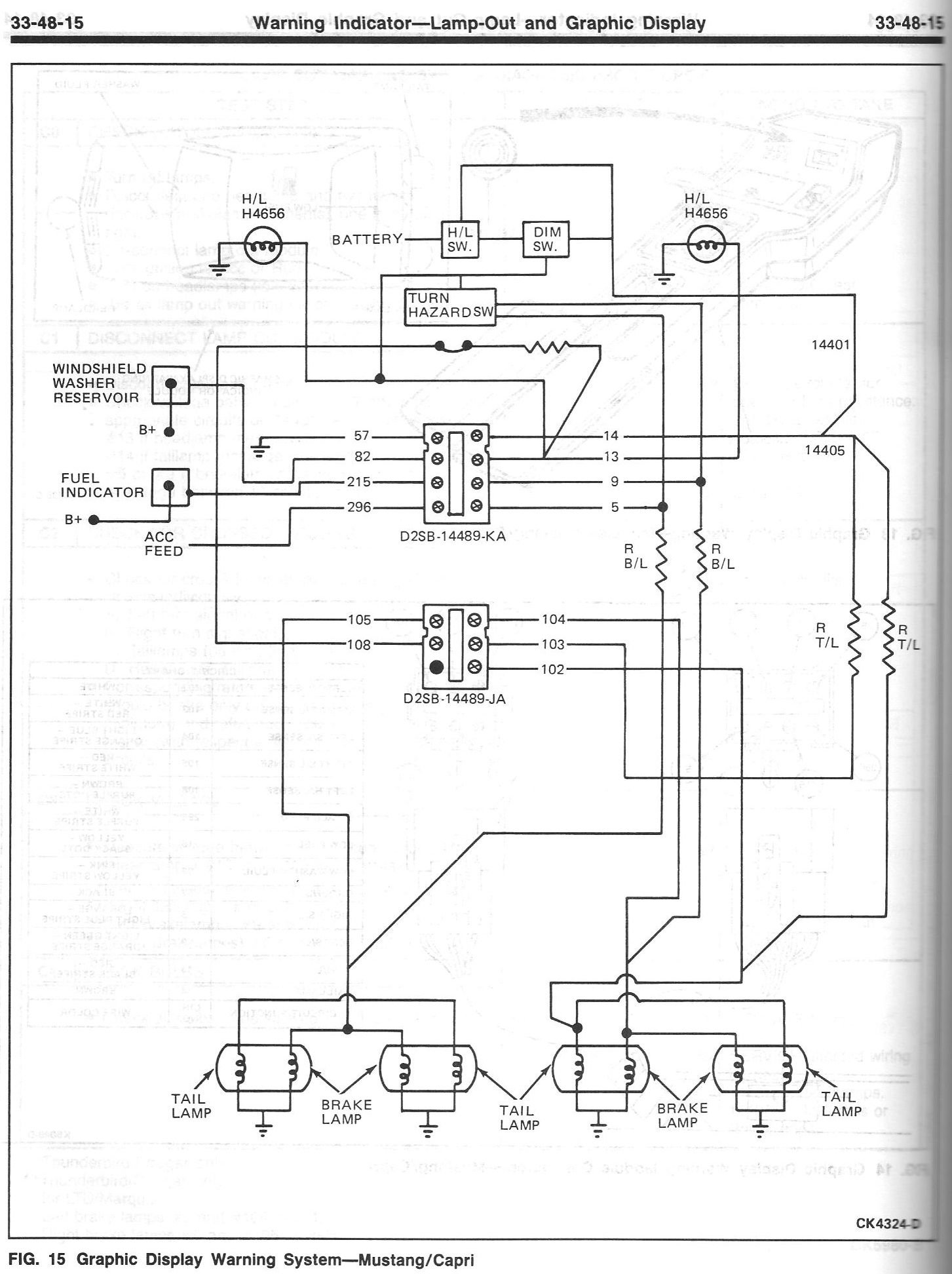 Warning Indicator Light Wiring Diagram Online Schematics 1986 Mustang Gt Lights Ford Forum Reverse Click Image For