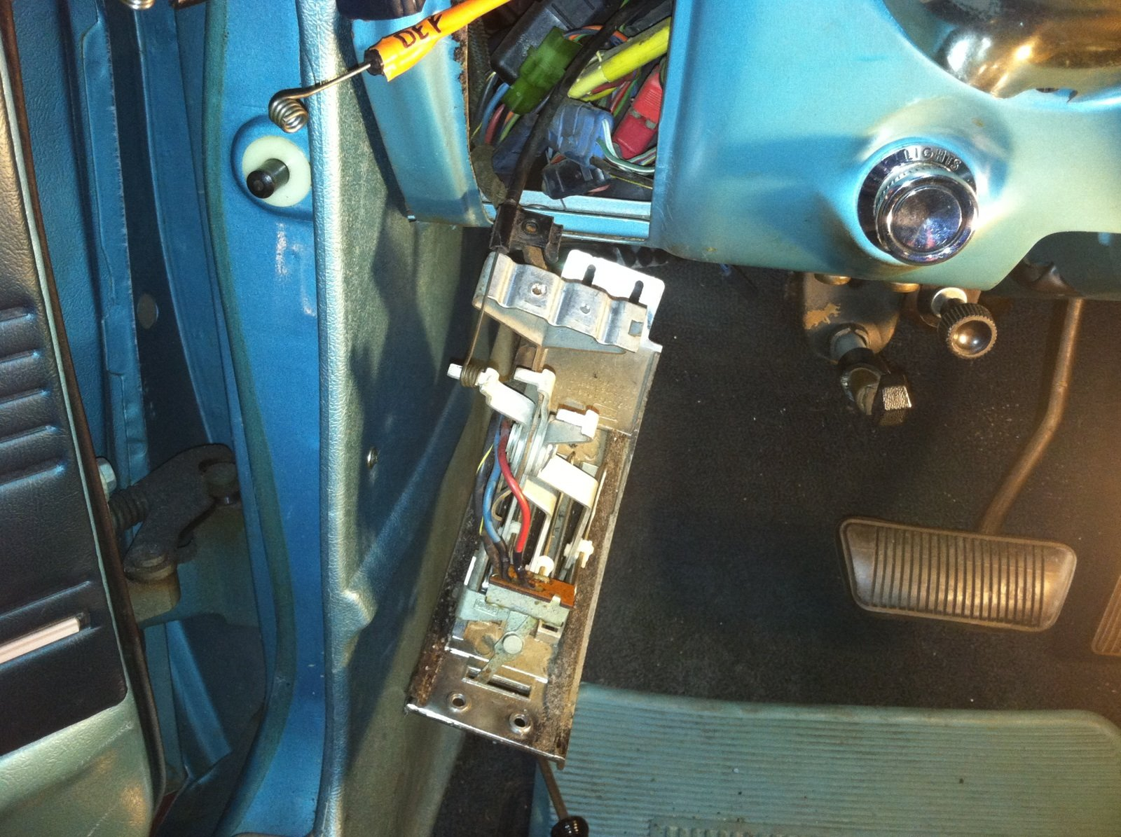 San Diego Ford >> help with heater control cable/clamp on 1967 coupe - Ford Mustang Forum