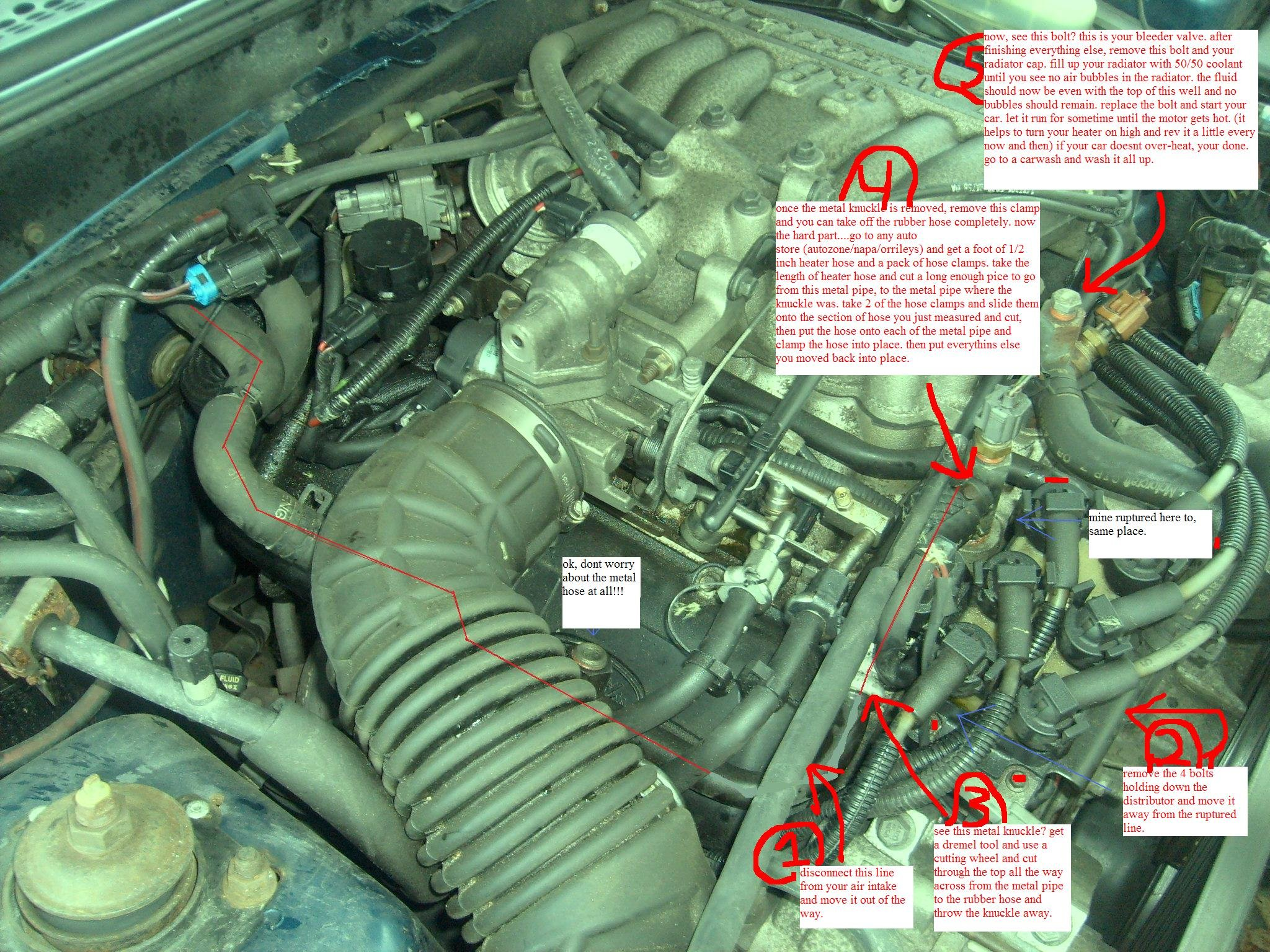 1998 Mustang Heater Hose Ruptured | Ford Mustang Forum | 1998 Mustang V6 Engine Diagram |  | All Ford Mustangs