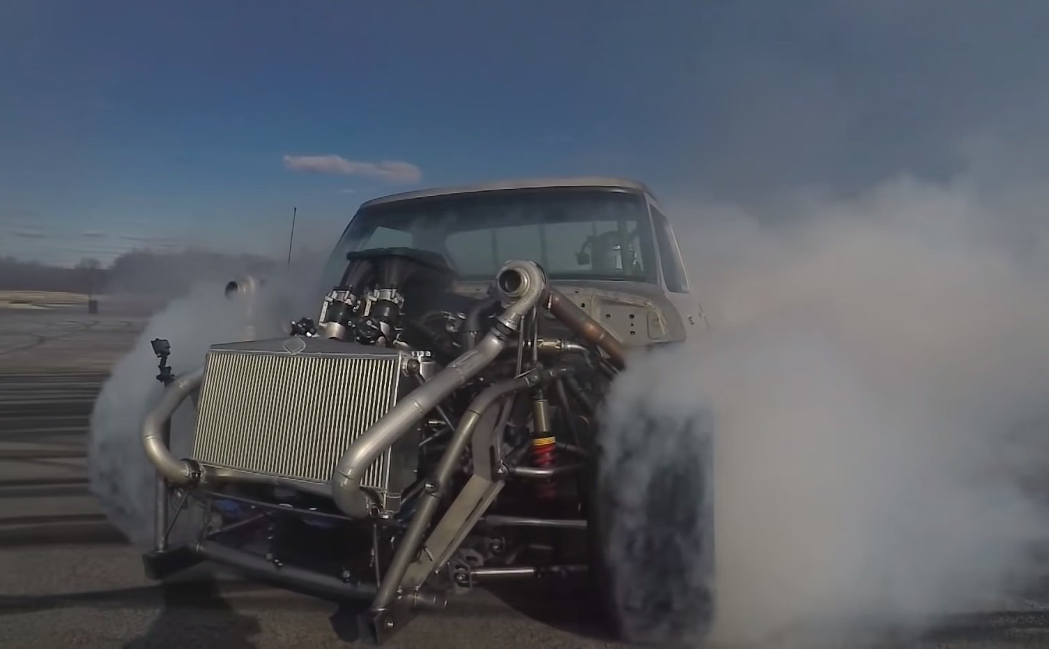 Watch: Ken Block's Hoonitruck Does Big Smoky AWD Burnouts