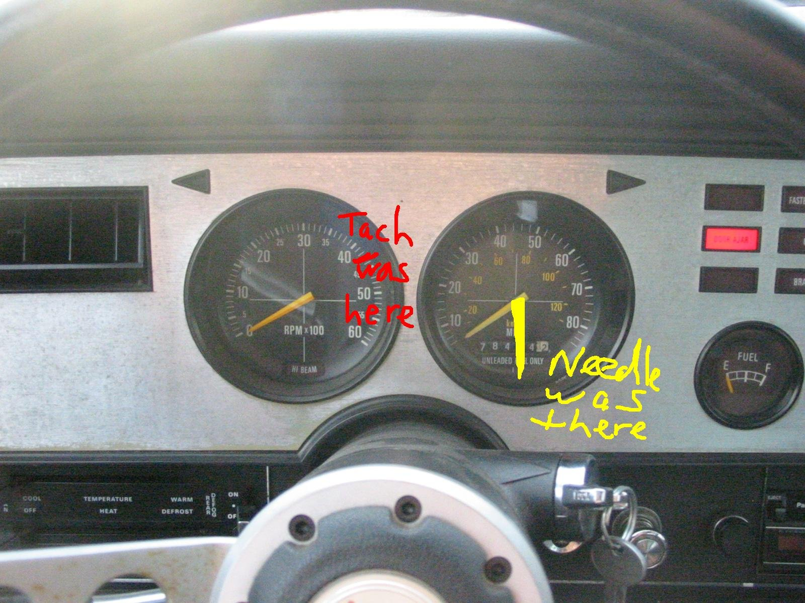 80mph Speedo in 1977 Mustang