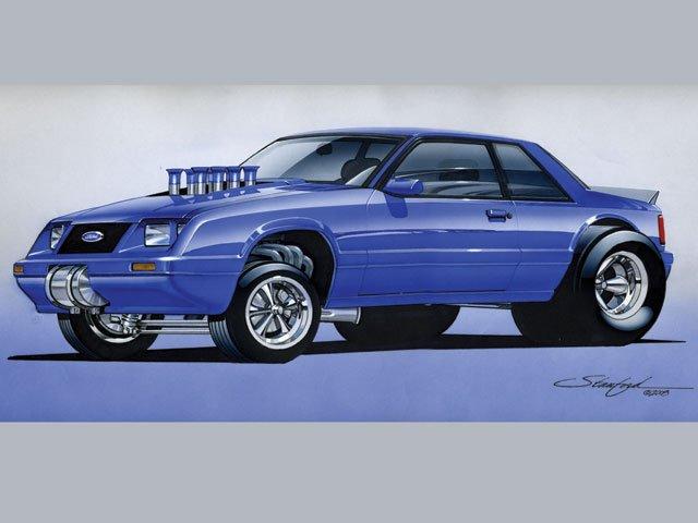 D Mustang Cartoons Hrdp Cool Z Fox Body Mustang Gasser