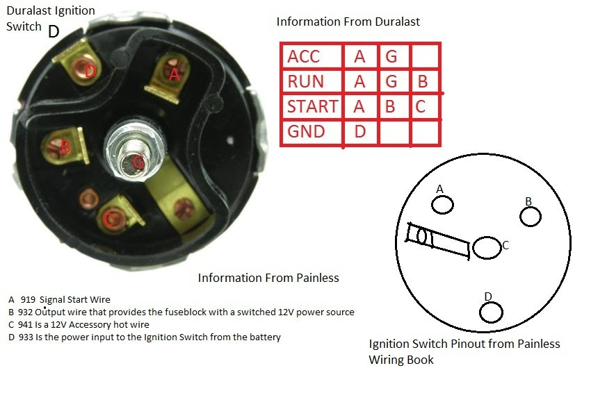 D Mustang Ignition Switch Question Ignition on Ignition Wiring Diagram 1965 Mustang
