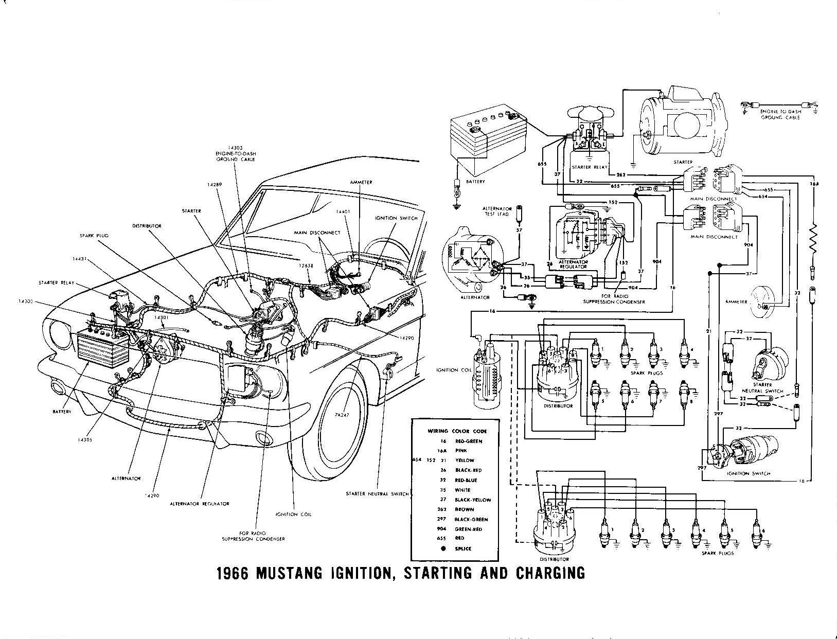 Voltage Regulator Wiring 1966 Mustang