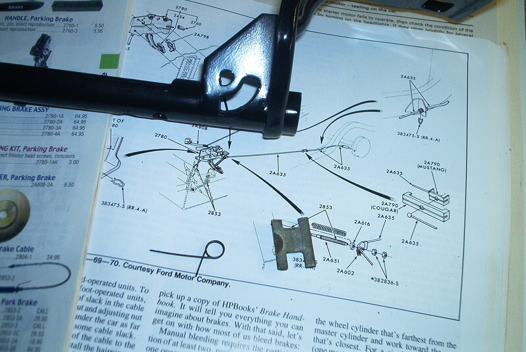Help with parking brake assembly please  Ford Mustang Forum