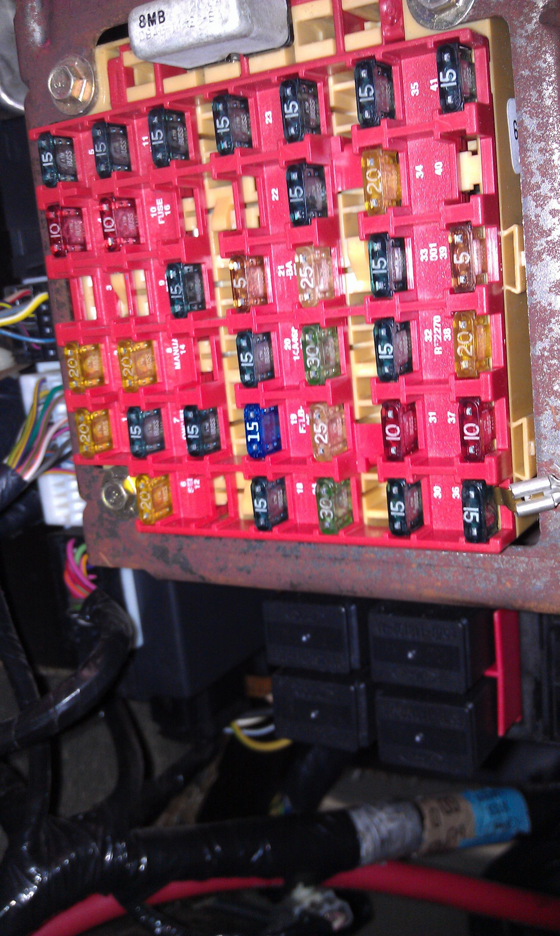 unidentified relays near the fuse box in 1999 mustang