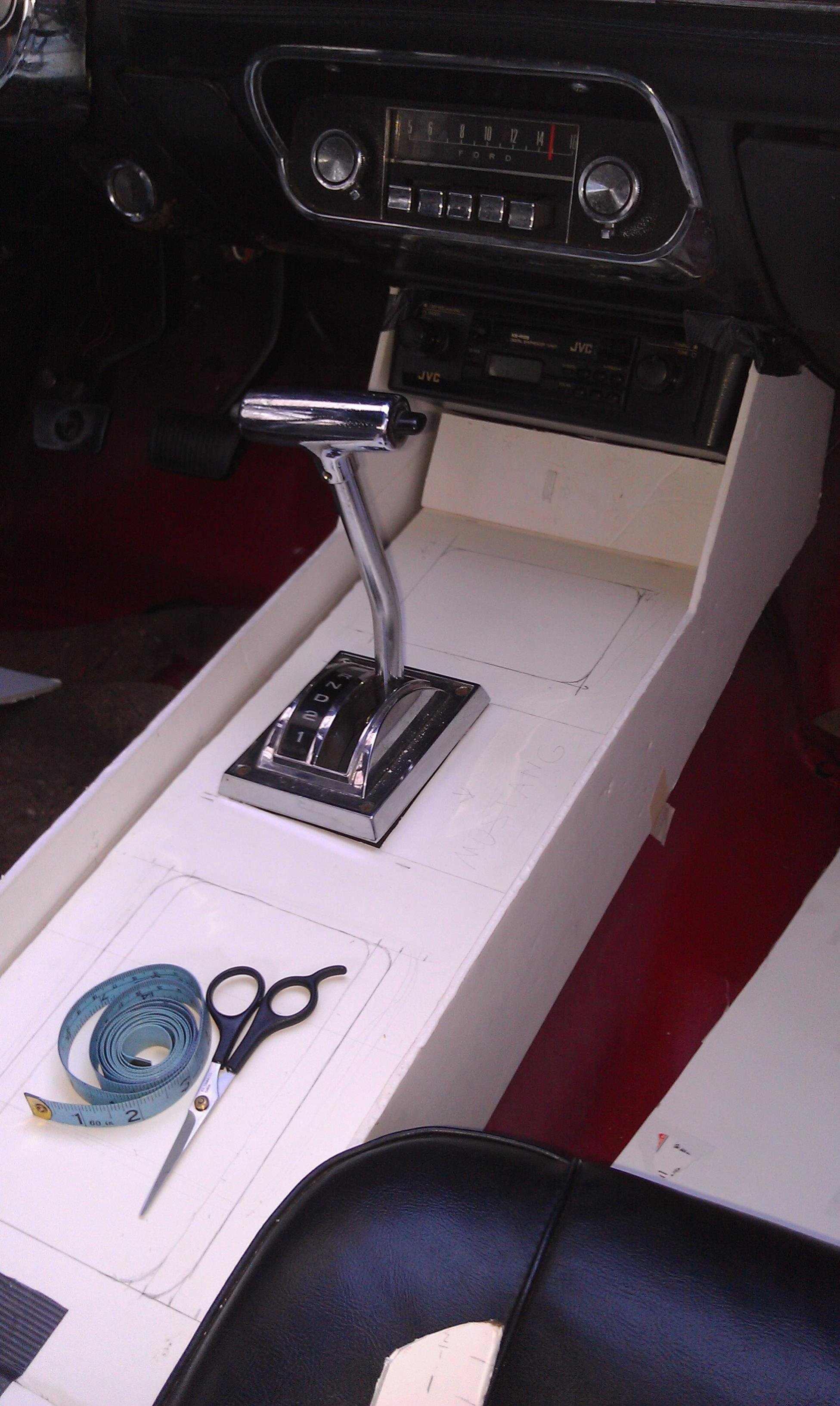 67 Mustang Console ~ Create build a center console for fastback ford