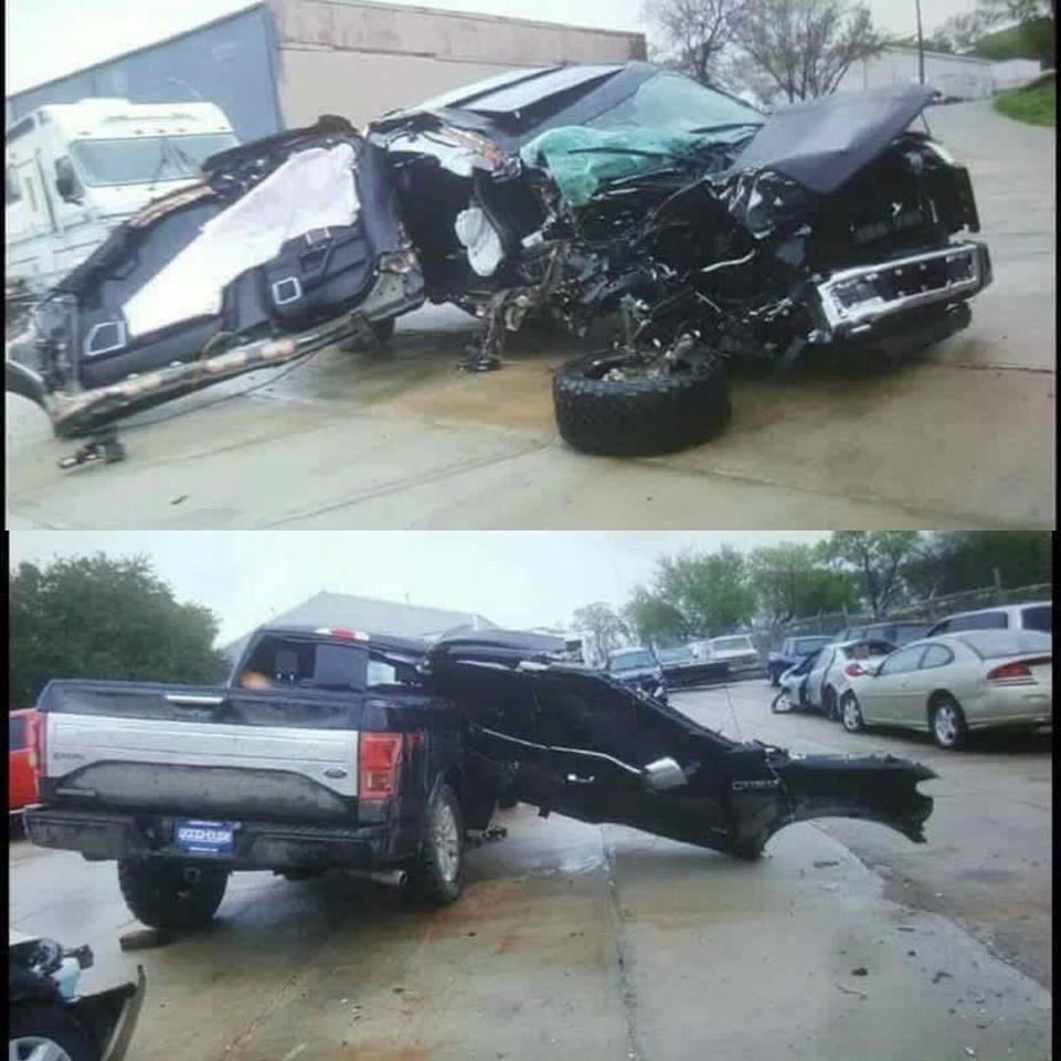 Ford Fort Worth >> F-150 crash damage. - Ford Mustang Forum