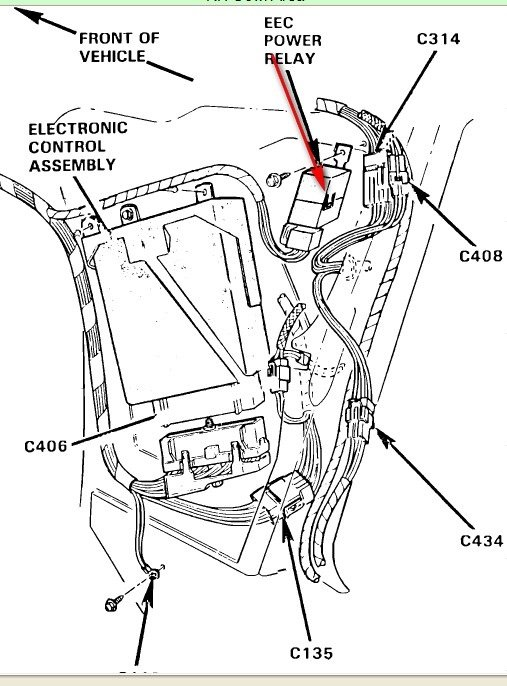 ford escape fuel pump wiring ford probe fuel pump diagram 93 mustang gt eec relay - ford mustang forum