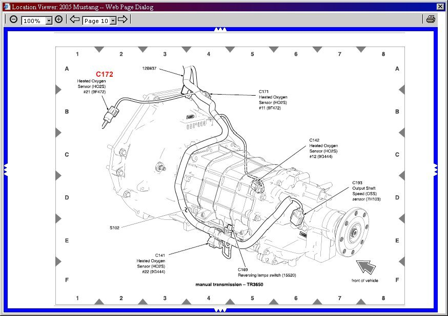 o2 sensor wiring ford mustang forum Map Sensor Wiring Diagram 2001 Mustang Power Windows Wiring Diagram