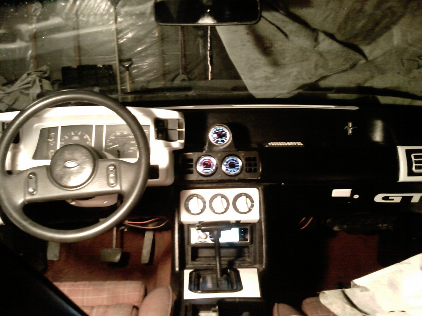 D Mustang Gt Interior Swap Black Blue Image