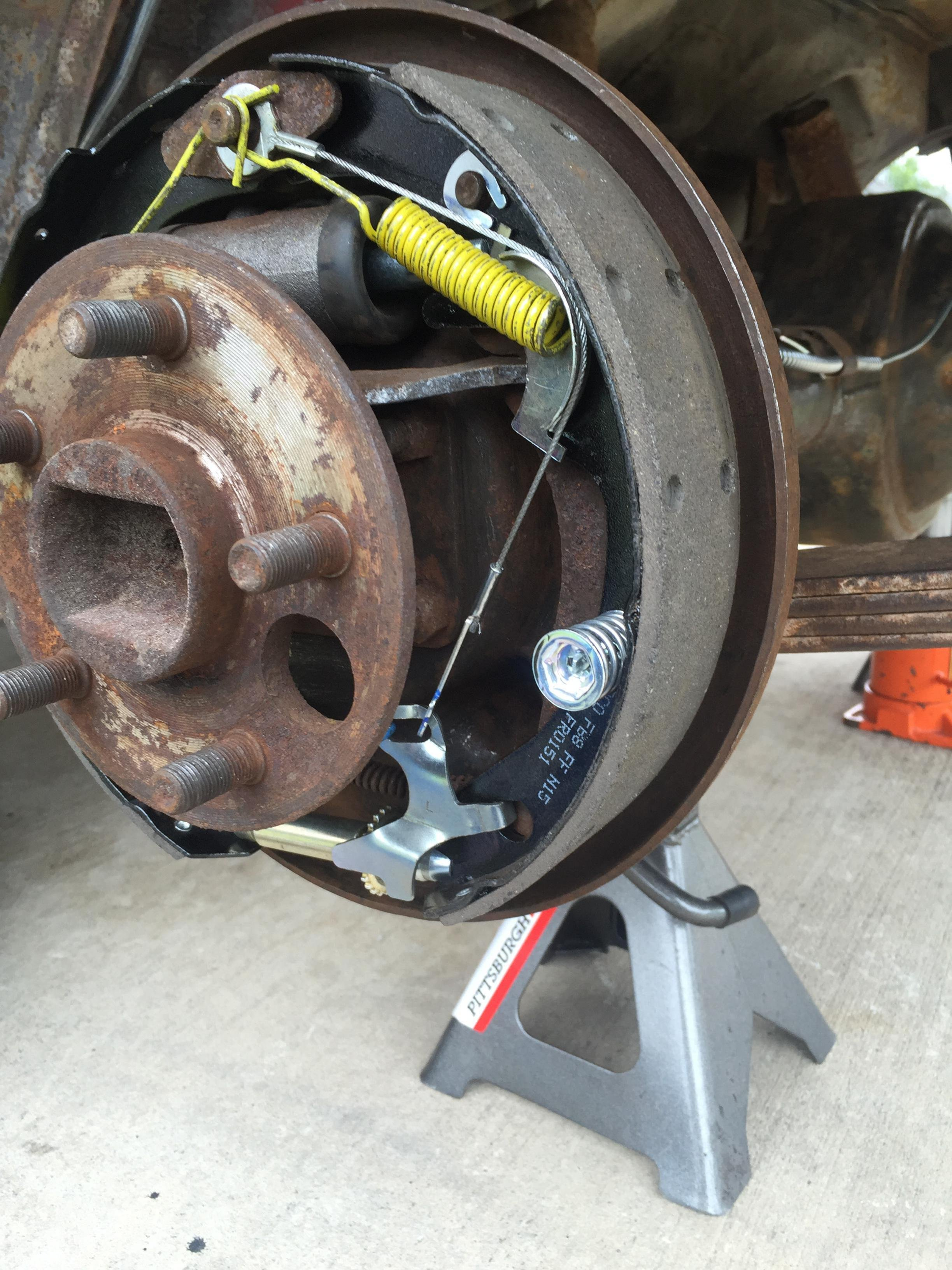 D Mustang Rear Drum Brakes V Image on Ford Rear Brake Diagram