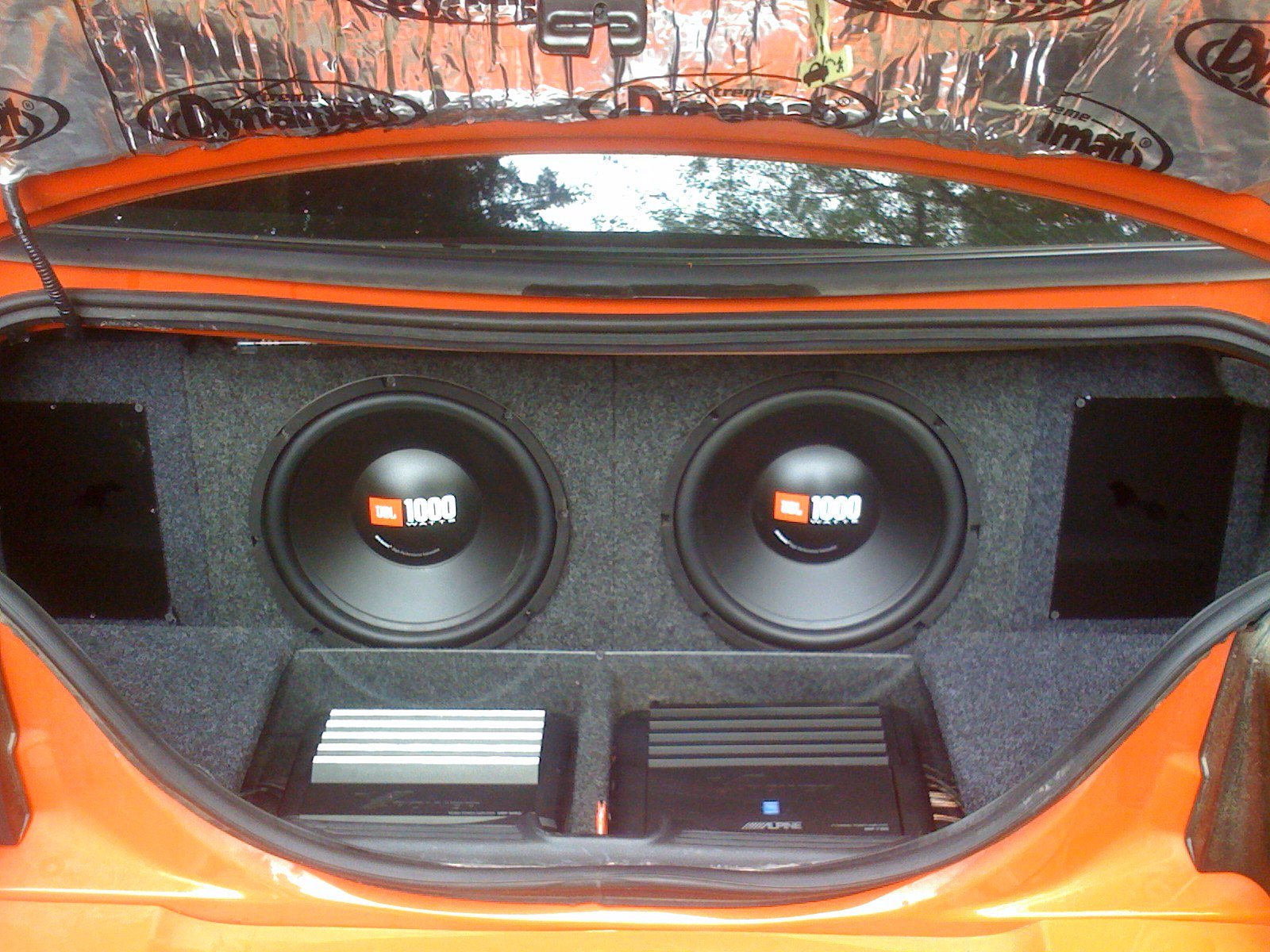 Custom 1999 2004 Mustang Sub Box With Amp Rack Ford
