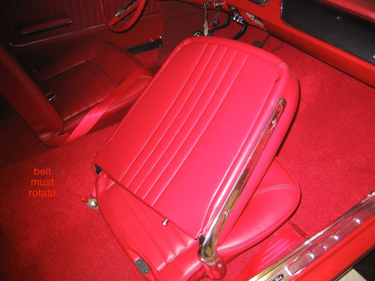 Question Bout 1965 Mustang Seatbelts Page 2 Ford