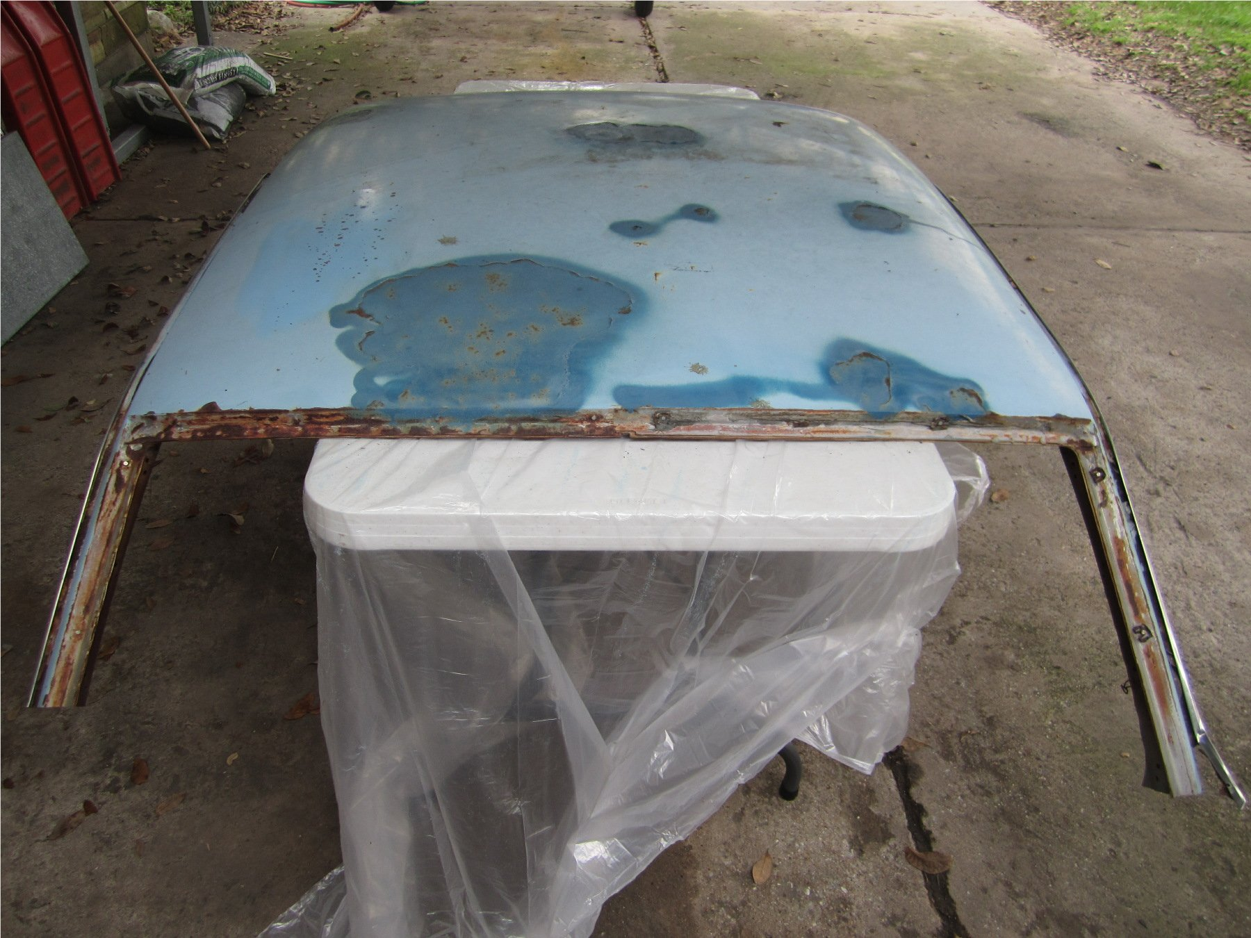 1964 Coupe Roof Skin Replacement In Bare Metal Ford