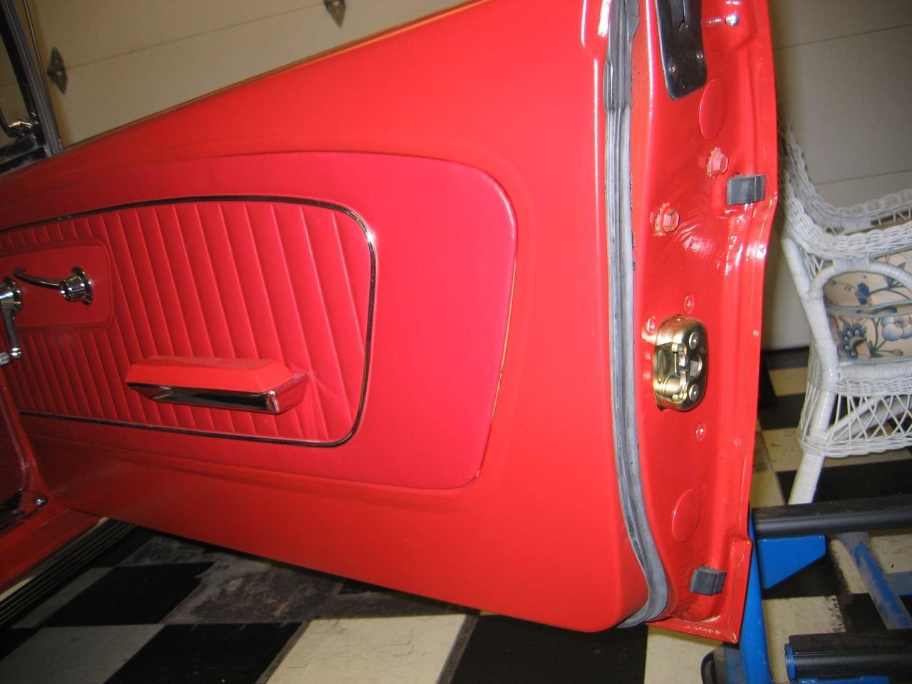 Weather Stripping Doors: 1965 Mustang Door Weatherstrip Installation