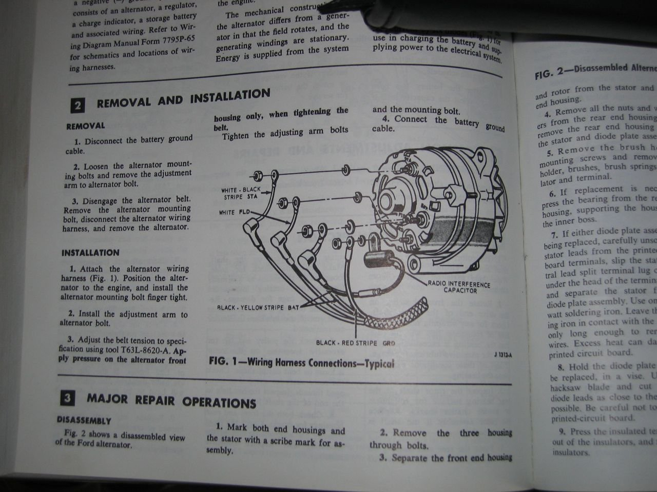 1966 mustang alternator wiring ford mustang forum how to remove alternator clip at How To Disconnect Alternator Wiring Harness