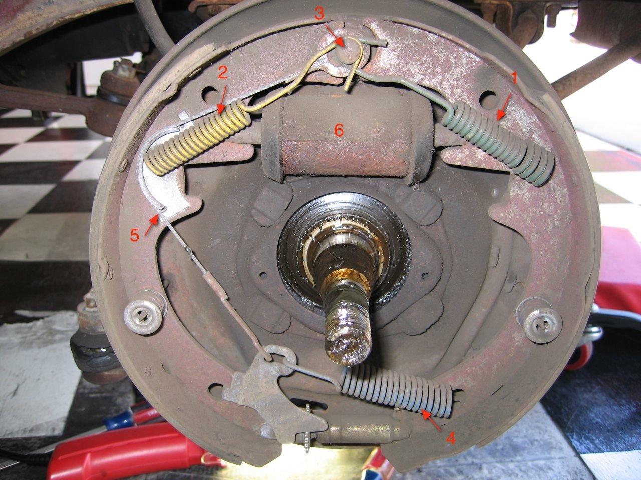 D Mustang Drum Brake Problem Img on Ford Ranger Drum Brake Diagram