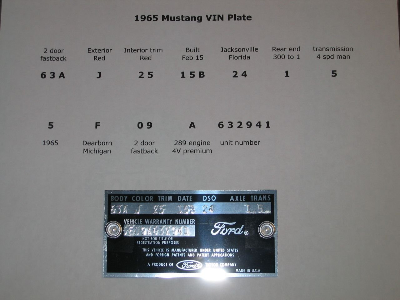 Dataplate as well Mustang Vin Plate moreover Front Web as well Cowlvin as well Dsc. on 1965 mustang data plate vin
