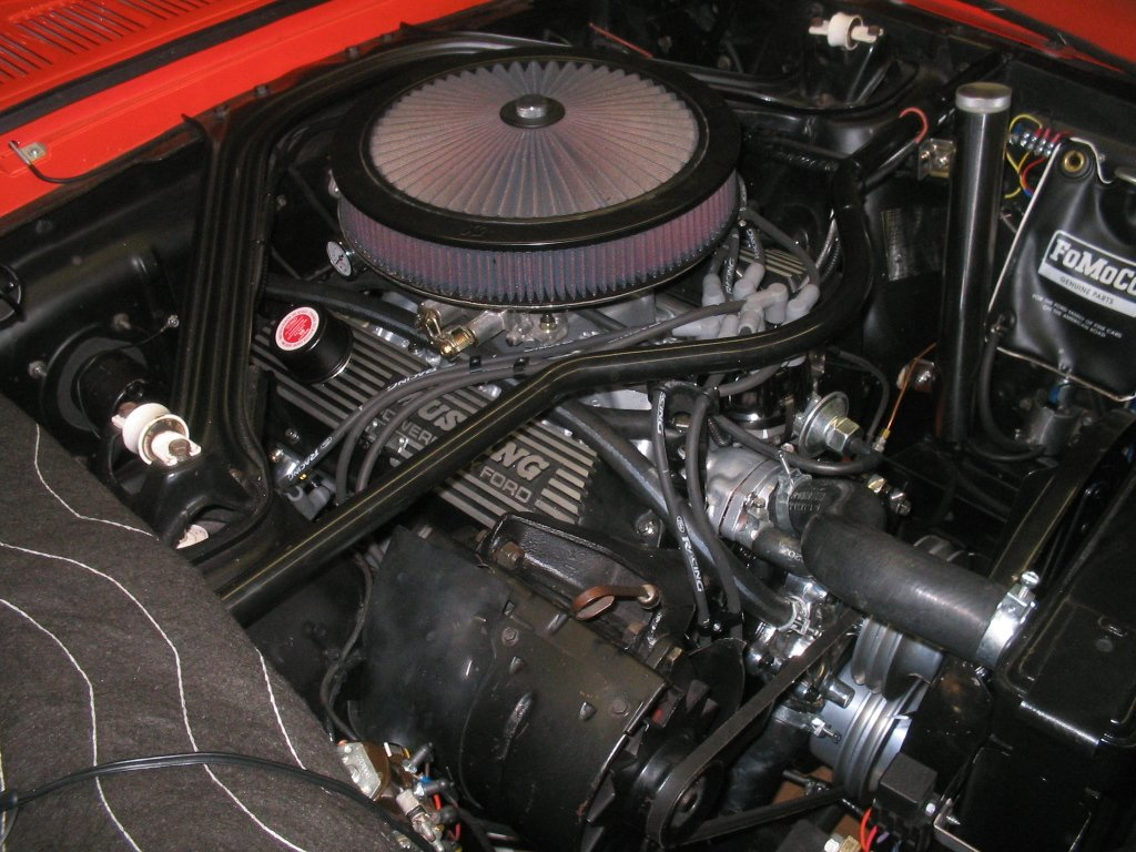 air cleaner setup mustang ford
