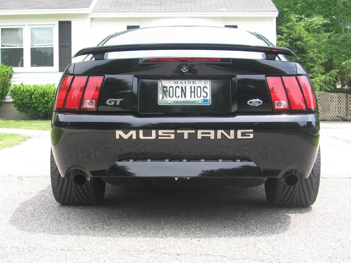post picks of your rear bumper inserts ford mustang forum