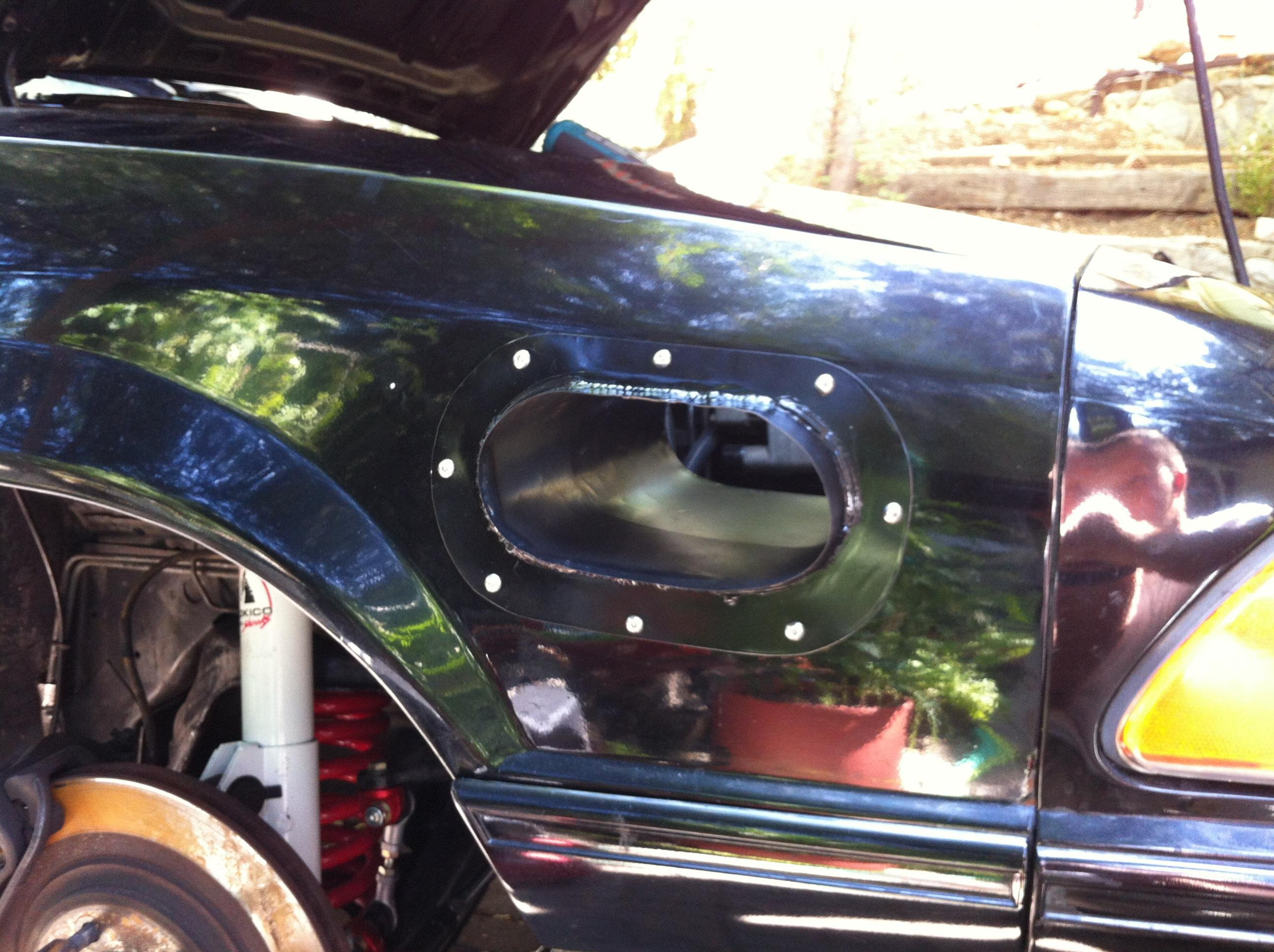 Fox Body Hood Vents Amp Cold Air Fender Intake Mods Ford