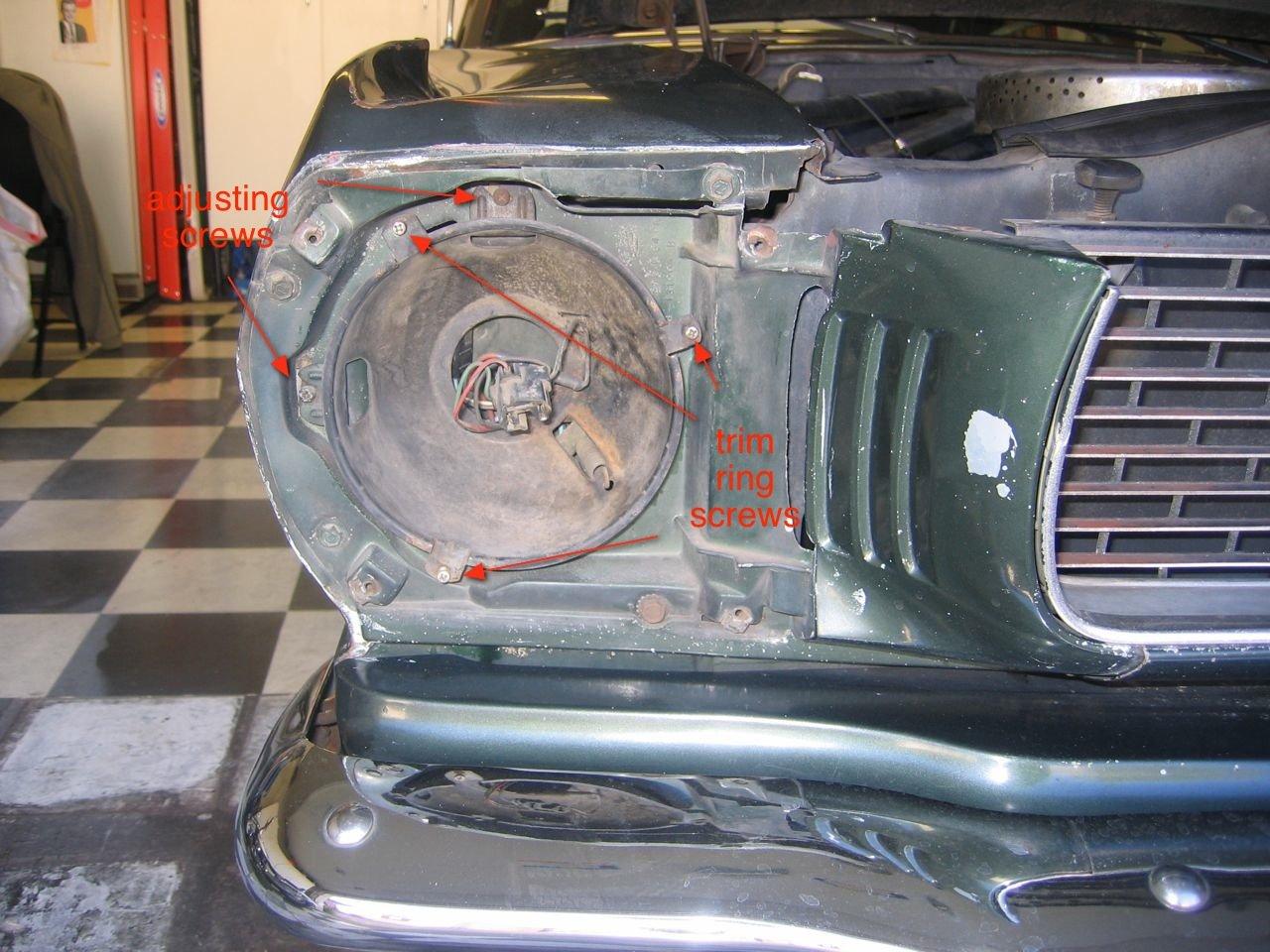 65 Mustang Headlight Bucket Spring Help Ford Mustang Forum
