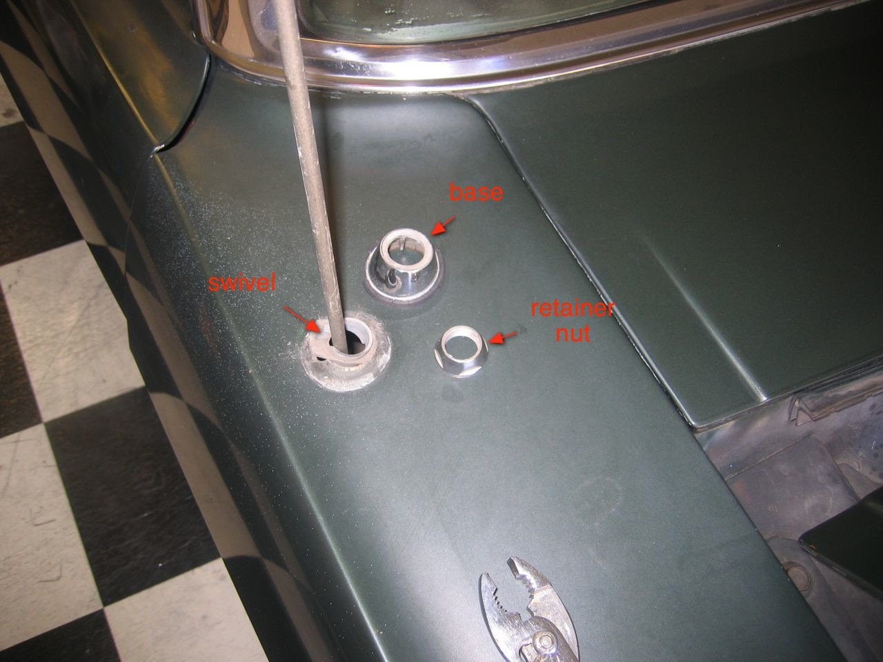 How To I Take Off The Radio Antenna 1965 Mustang Original