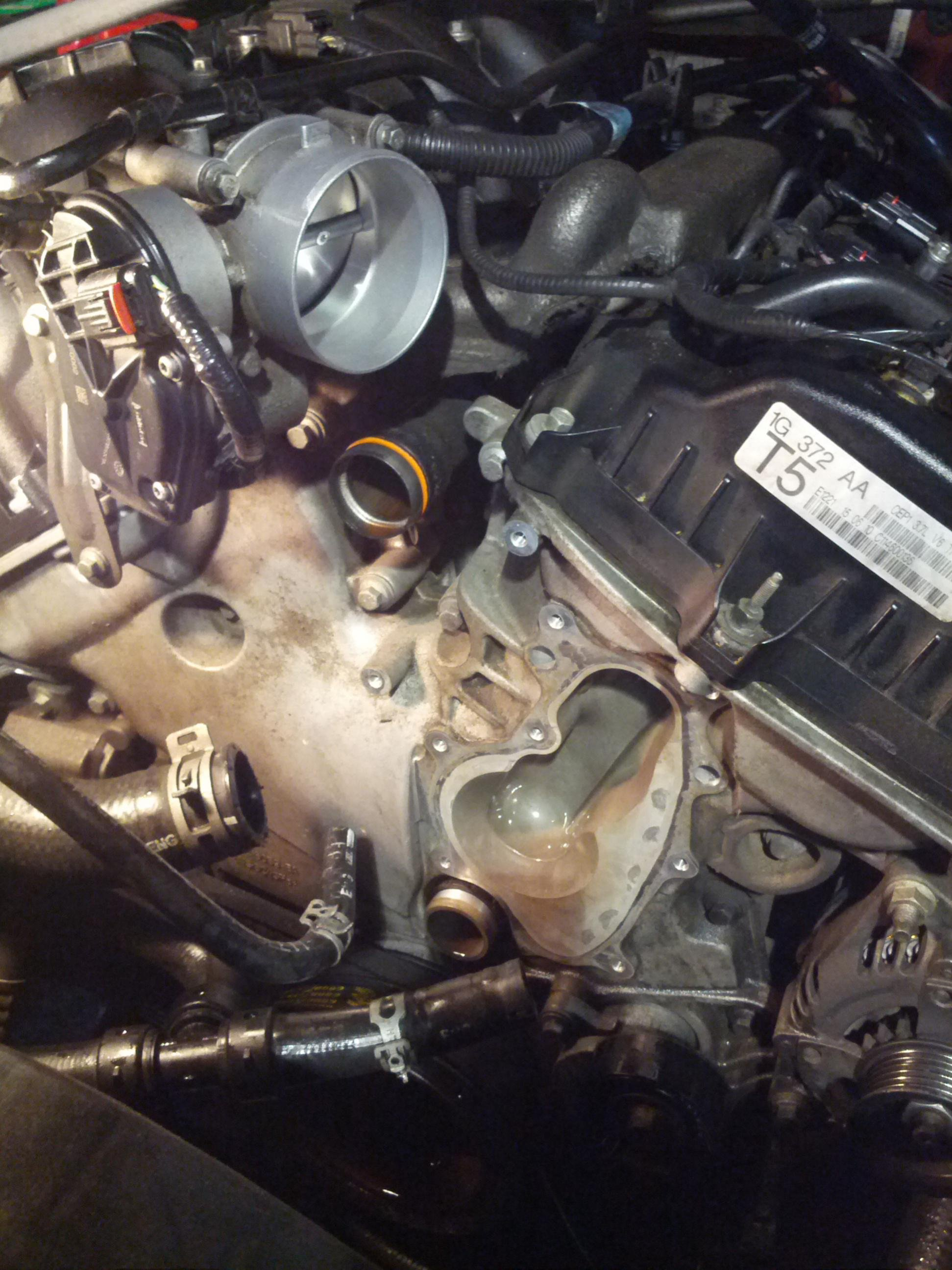 Water Pump Pulley >> 2011 Mustang 3.7L - Coolant Leak by pulley. - Page 2 ...
