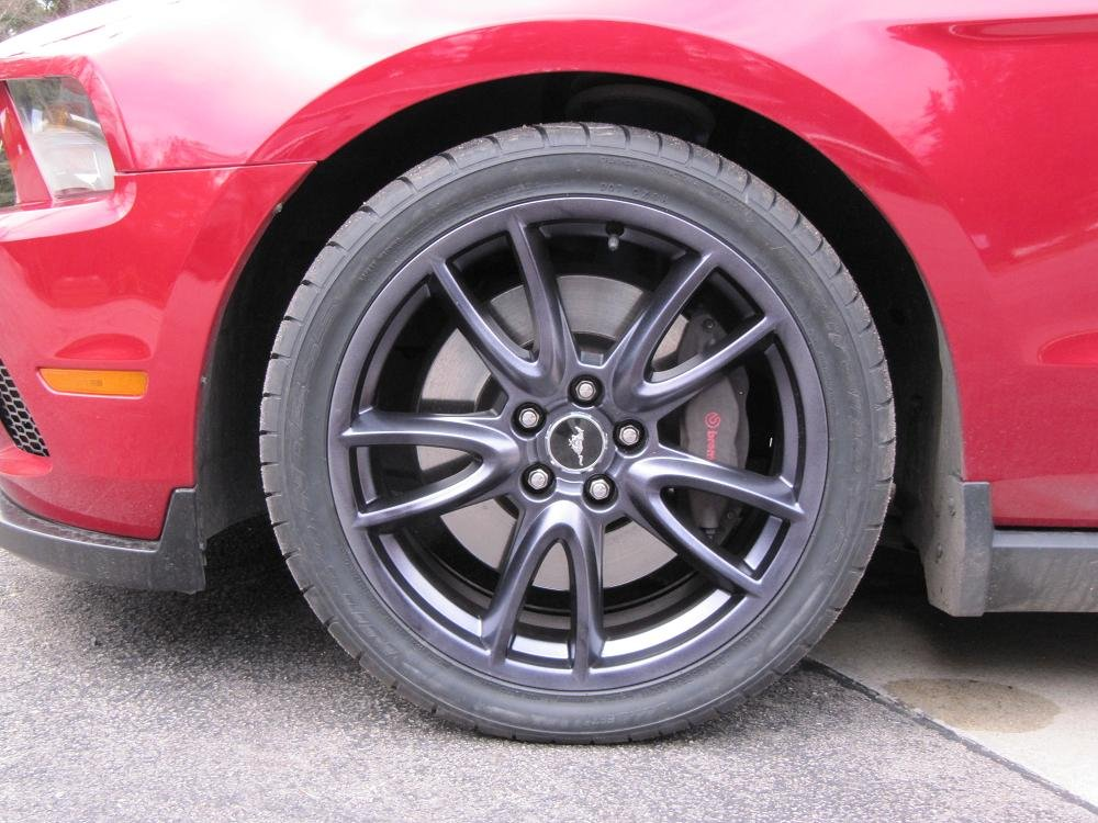 Painted My Brembo Wheels Today Ford Mustang Forum