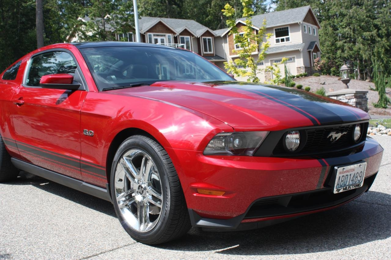 what color stripes on red candy ford mustang forum. Black Bedroom Furniture Sets. Home Design Ideas