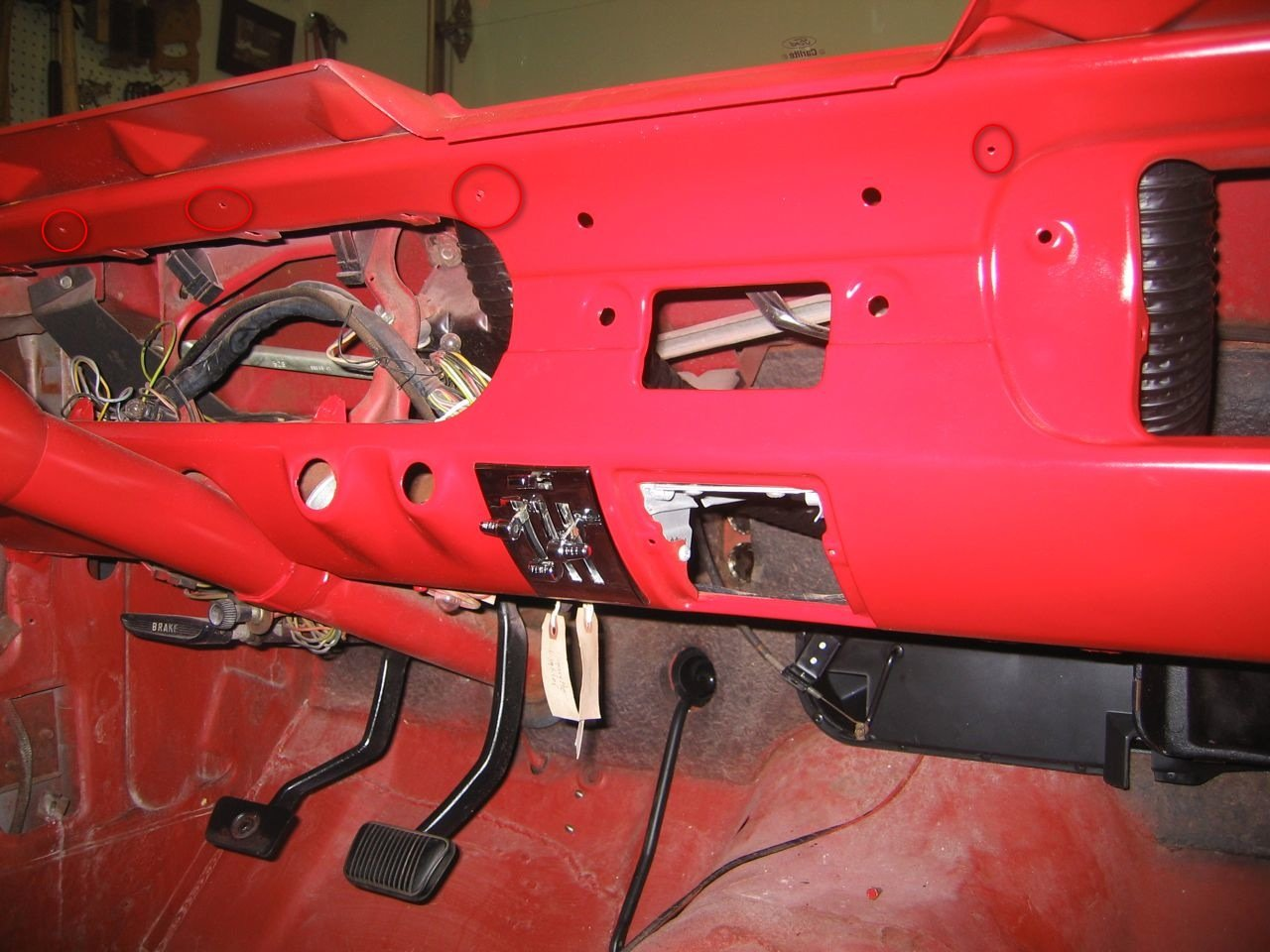 1965 Mustang How To Remove Dash Board Pad Ford Mustang Forum