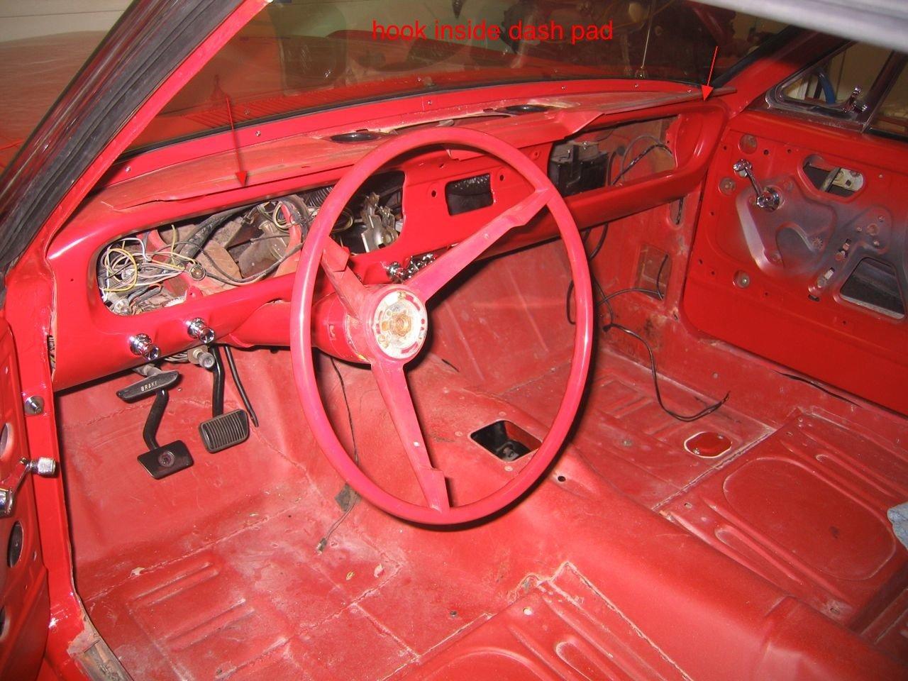 dash pad installation 1966 mustang convertible ford