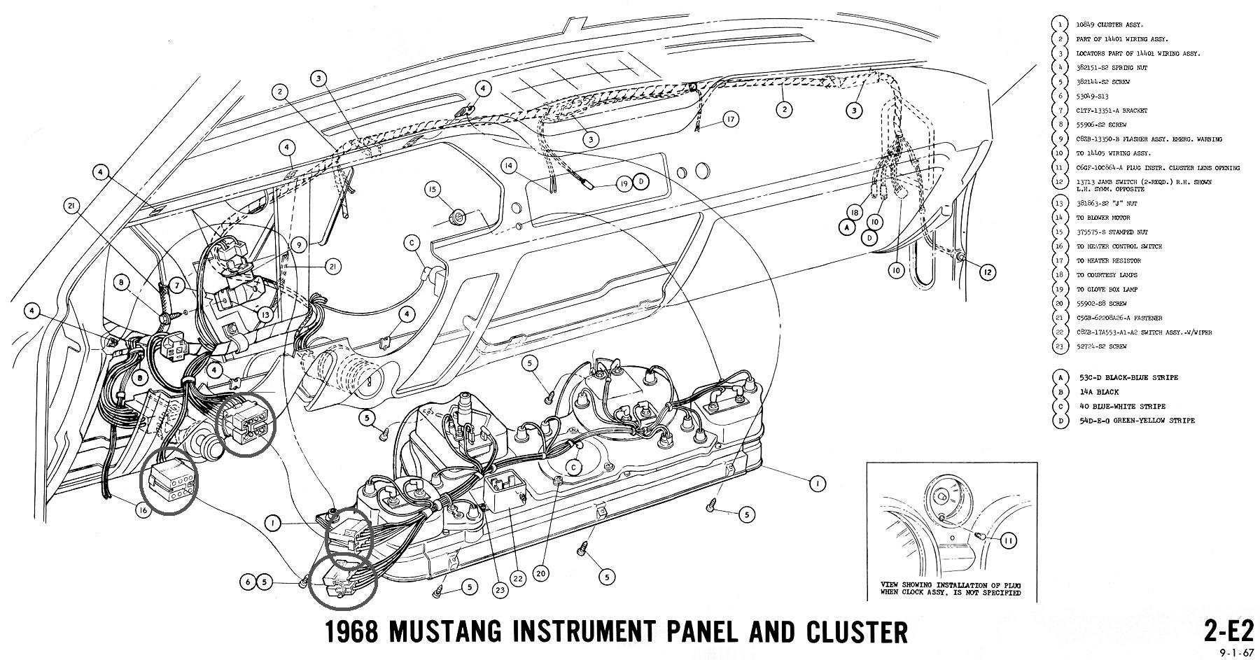 electrical help needed for 1968 mustang ford mustang forum click image for larger version instrument panel2 jpg views 7079 size