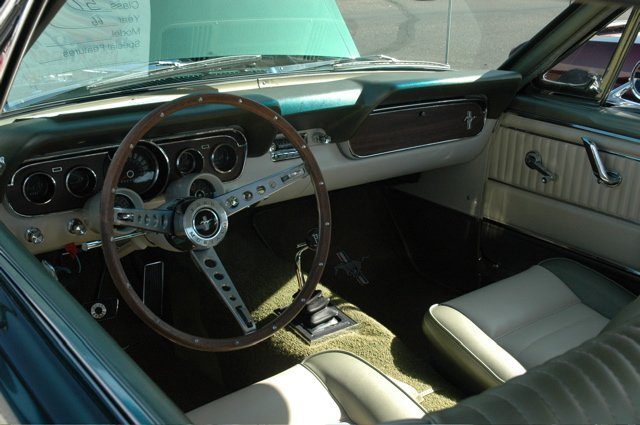 1966 Mustang Convertible With Parchment And Ivy Gold