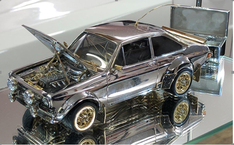 Precious Metal Ford Escort Headed for Auction