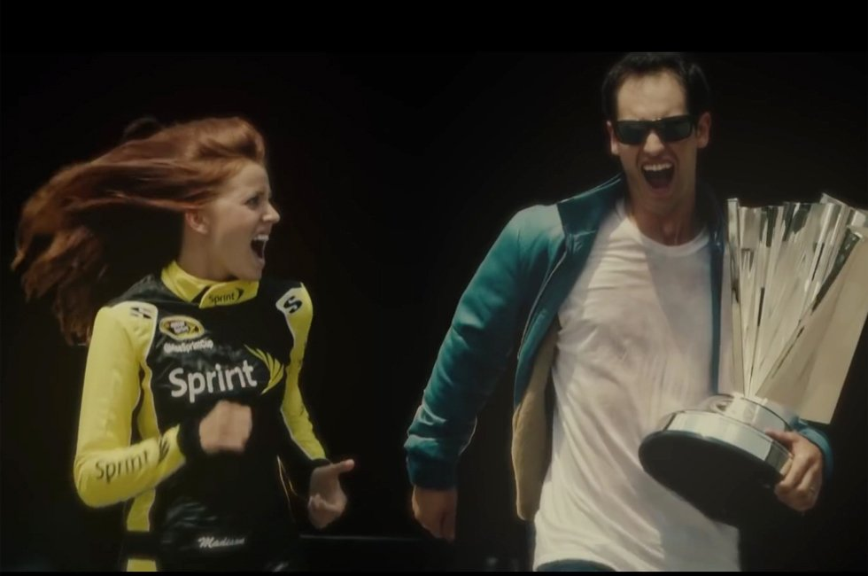 Watch Joey Logano Save Miss Sprint Cup in this Super Cheesy Video