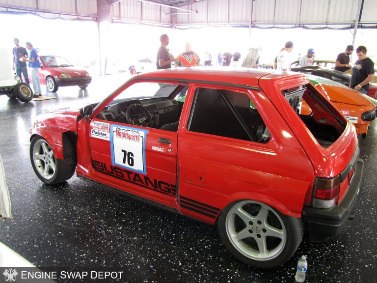 Justang-1993-Subaru-Justy-with-a-1999-Mustang-Cobra-Drivetrain-03-768x576