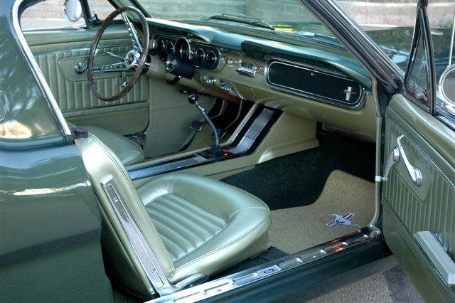 interior mustang 1967 colors ivy gold 1965 1966 coupe 65 ford forum steering wheel classic allfordmustangs lime light galaxie cars