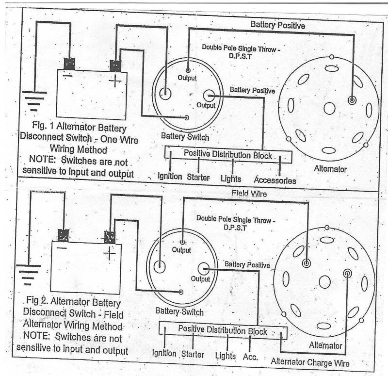 Alternator Wiring Diagram With Kill Switch