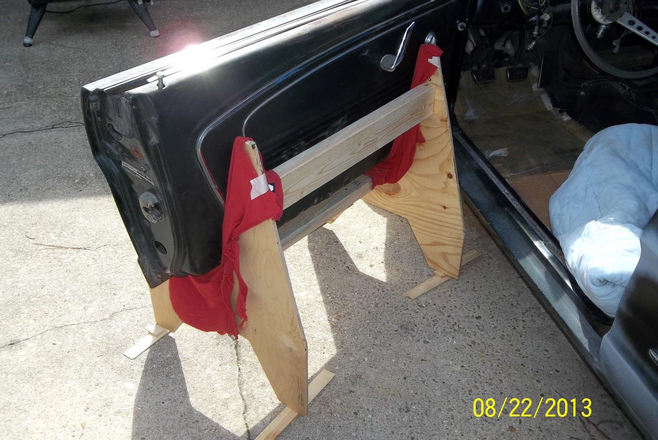 67 68 Ford Mustang Lower Door Hinge Left