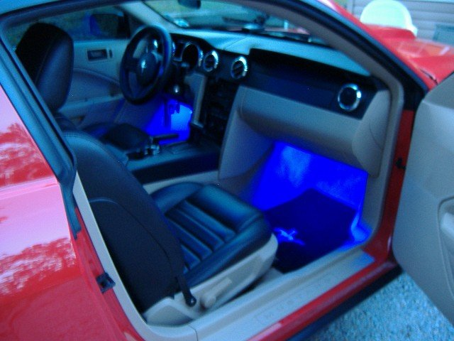 2005 Mustang Led Frt Footwell Lighting Quot Installed Quot Ford