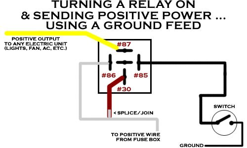 fog light relay wiring diagram positive ground relay wiring diagram positive ground
