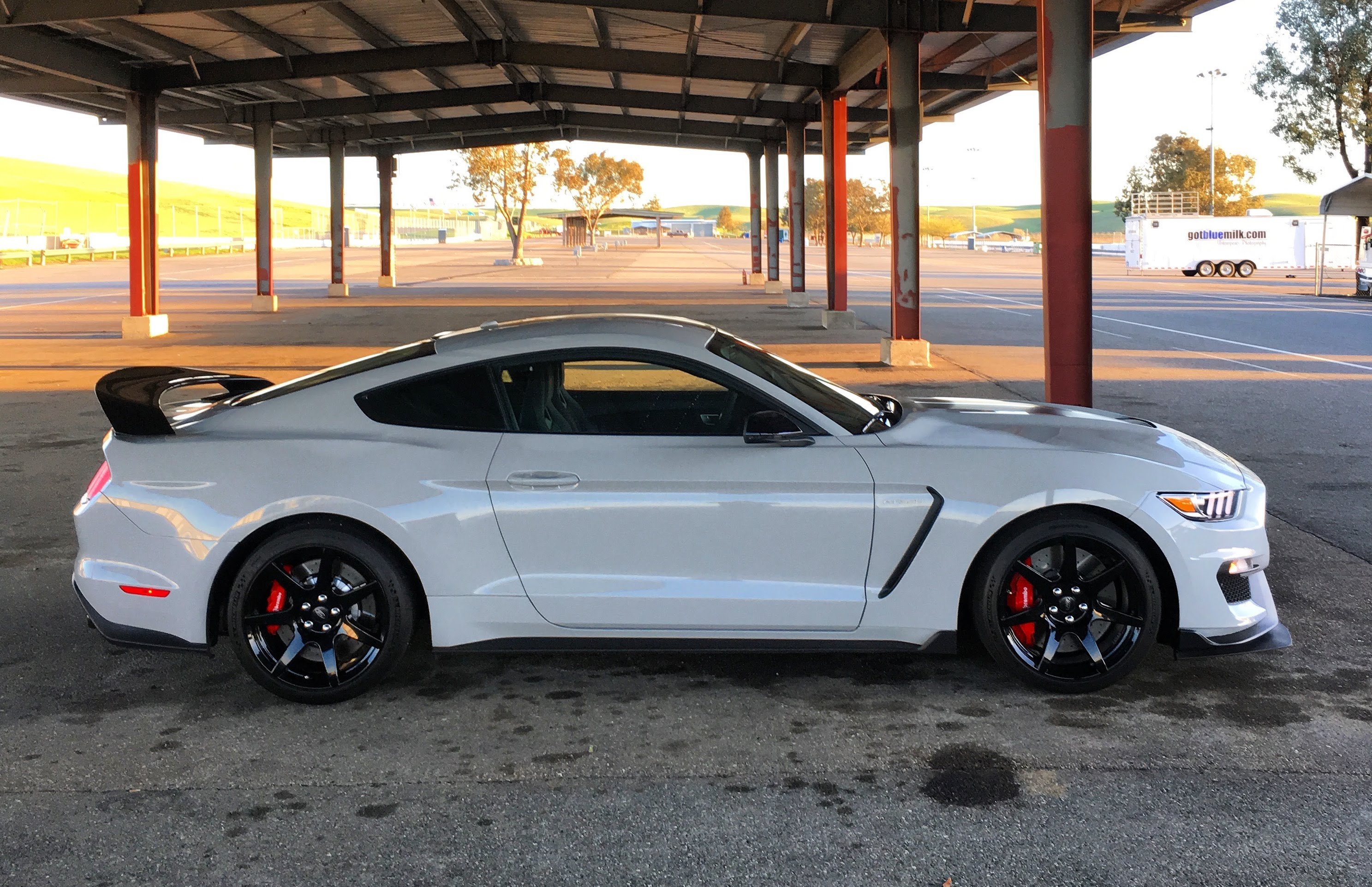 Smoking Tires in a 2016 Shelby GT350R
